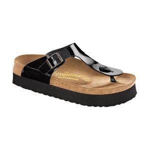 Birkenstock Papillo Gizeh patent sandals